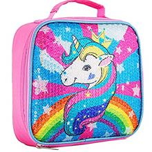 Unicorn Lunch Box for Girls, Sequin Lunch Bag for Kids