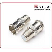 Quick Push On F Connector Male to Female F Thread Adapter (2pcs)