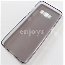BLACK Soft Jacket Silicon Plain TPU Jelly Case Samsung Galaxy S8 ~5.8""