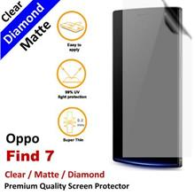 Premium Diamond Matte Clear LCD Film Screen Protector Oppo Find 7