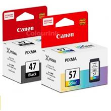 GENUINE CANON PG-47 BLACK + CL-57 COLOR INK CARTRIDGE**NEW**SEALED BOX