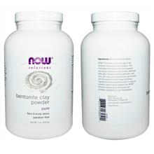 Now Foods, 100% Pure Bentonite Clay Powder, Skin Detox (454 g)