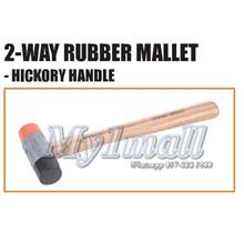 Tactix 223101 2 Way 35mm Hickory Handle Rubber Mallet