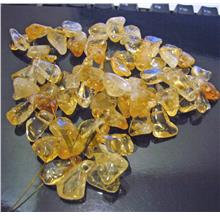 DIY 16 Inches Citrine Gemstone FLAT Water Drop Shape Large Size Chips