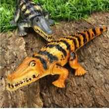 Electronic Crocodile Toy Crawling Moving w Light Sound Gift