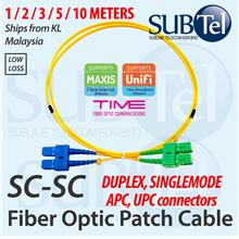 SC APC - SC UPC Single Mode Duplex Fiber Optic Patch Cord Cable SM DX