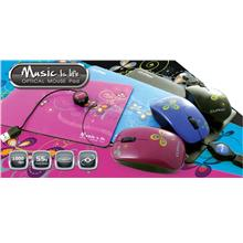 CLIPTEC MUSIC IS LIFE RETRACTABLE MOUSE WITH MOUSE PAD (RZS328)