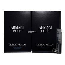 *100% Original Perfume Vials*Armani Code Pour Homme 1.5ml Edt Spray x2