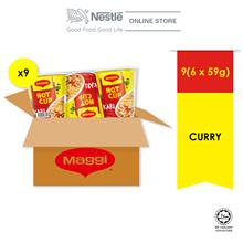 MAGGI Hot Cup Curry 6 cups 59g x9 multipack (1 Carton)