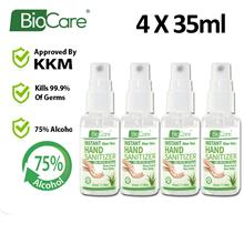 [READY STOCK 35ML] Biocare Instant Hand Sanitizer Liquid X4