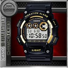 CASIO W-735H-1A2V VIBRATION ALARM WATCH☑ORIGINAL☑