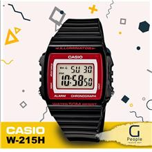 CASIO W-215H-1A2V / W-215H-1A2 STANDARD DIGITAL WATCH 100% ORIGINAL