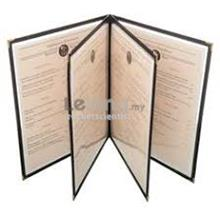 4 Sleeves Sheet 8 Pages A4 Restaurant Transparent Menu Cover