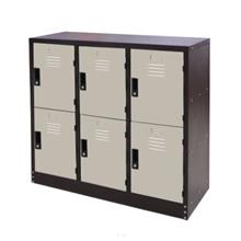 Half Height 6 Compartment Steel Locker (Combination) - S127/A