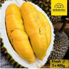 (Durian Hill) FRESH MUSANG KING DURIAN 3 X 400 GRAM