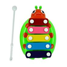 Cute Five Notes Ladybird Steel Percussion With Hammer (Green)