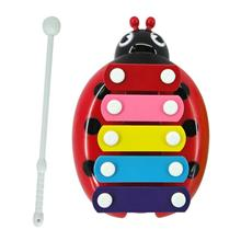 Cute Five Notes Ladybird Steel Percussion With Hammer (Red)
