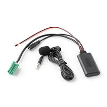 Car AUX Audio BT Adapter with Microphone Handsfree Phone Call AUX-IN ISO 6Pin