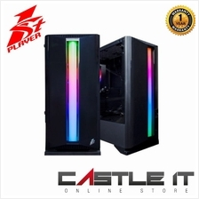 1st Player Rainbow R6 Tempered Glass ATX Gaming Casing (come with 3x B