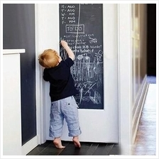 Removable Chalkboard Wall Sticker Black/Green/White 45*200cm