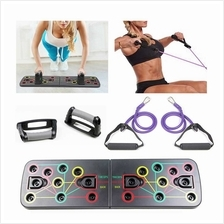 Multi-Function Foldable Push Up Board System with Resistance Tube Band