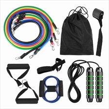 13pcs Resistance Band Set Workout Fintess Exercise Tube Band Jump Rope