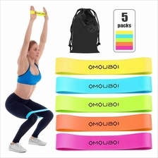 Pack of 5 Resistance Loop Bands Exercise Bands with Carry Bag Strength