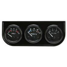 52mm Electronic Triple Gauge Kit Oil Pressure Water Temperature Gauge Voltmete