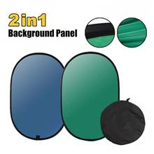 COLLAPSIBLE NYLON BLUE & GREEN 2 IN 1 BACKDROP BACKGROUND 1.5M*2M