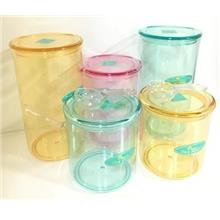 Transparent Canister  With Lid (Made In Korea)-Stocks Clearance