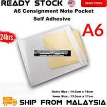100pcs A6 Self Adhesive Consignment Note Pocket 14.5*18cm