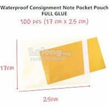 100pcs 18*24cm(17*23cm) Self Adhesive Consignment Note Pocket Pouch