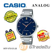CASIO Men MTP-VT01D-2B Analog Watch Fashion Style Dinner [READY STOCK]