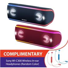Sony XB41 Extra Bass Portable Bluetooth Speaker Complimentary Sony WI-C300 Wir)