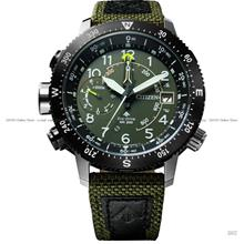 CITIZEN BN4048-14X Promaster Eco-Drive Altitude Compass Nylon Green