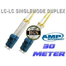 Tyco AMP LC to LC, Duplex Singlemode Fiber Cables, 9/125 ,30 meter