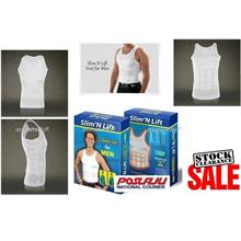 Look Slimmer Now with The SLIM n LIFT Mens Body Shaper Vest . Hot Sale
