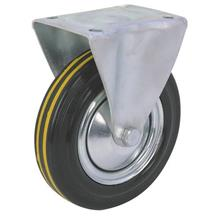 Rubber Industrial Fixed Caster / Wheel - 150mm
