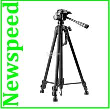 Full Size Tripod For DSLR Digital Camera Camcorder Video T65 (Black)