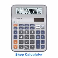 Casio Shop Calculator MC-12M Genuine Casio Mini Desk Type 2-way Power