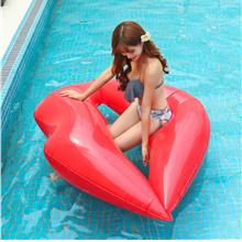 Hot inflatable lips swimming sitting circle red lip inflatable floatin