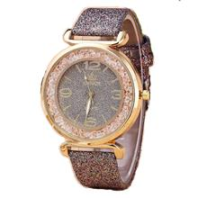 Fashionable shiny belt watch instead of hair quicksand diamond ladies