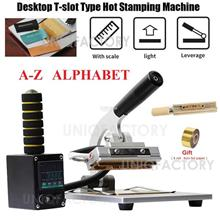 Desktop Hot Foil Stamping Machine Leather PVC PU Logo Emboss Bronzing