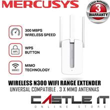 Mercusys MW300RE 300Mbps Wifi Wireless Range Extender / Repeater WPS b