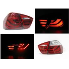 BMW 3 Series E90 05-08 LED Tri Light Bar Tail Lamp [RED / RED-CLEAR]