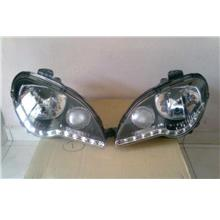 Proton Gen 2 / Persona '05 Crystal Head Lamp LED DRL R8 Chrome Housing