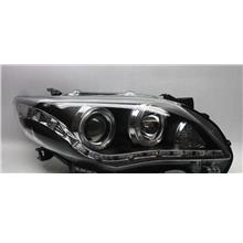Toyota ALTIS 10-11 LED Ring Projector Head Lamp Black DRL R8