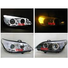 BMW E60 CCFL Ring Projector Head Lamp LED Signal & Eye Brown