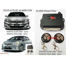 Toyota Altis '07 / Toyota Vios '08-13 Plug n Play Car Security Alarm