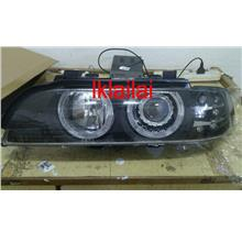 DEPO BMW E39 '95 Head Lamp Projector W/Rim+Motor+ Signal LED